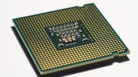 Zbliżenie komputerowa procesor jednostki centralnej powierzchnia zbiory wideo