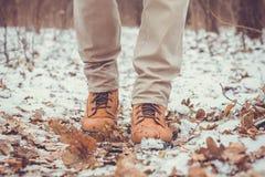 Zbliżenie męscy zima buty Zdjęcie Stock