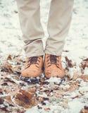 Zbliżenie męscy zima buty Obraz Stock