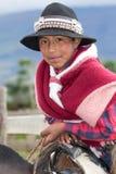 Zbliżenie młoda chłopiec w Andes Fotografia Stock