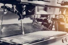 Zbliżenie metalu kawy wysokiej jakości maszyna Obrazy Royalty Free