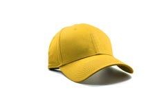 Zbliżenie mody żółta nakrętka Zdjęcie Stock