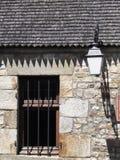 Zbliżenie na typowym domu w Mont saint michel fotografia royalty free