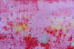 Zbliżenie ośniedziały barwiony metal, abstrakcjonistyczny grunge korodował stalowego tło, retro rocznika kruszcowy tło, żelazo po fotografia stock
