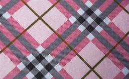 Zbliżenie Obciosywać Kształtnego i Pochylonego linia wzór na tkaniny tle Zdjęcie Royalty Free