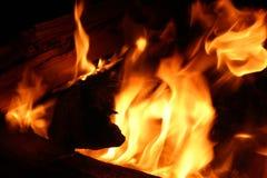 zbliżenie ogień Zdjęcia Royalty Free