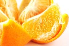 zbliżenie otwierający segmentu tangerine Zdjęcia Royalty Free