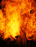 zbliżenie płomienie Obrazy Royalty Free