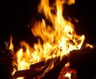 zbliżenie płonący ogień Zdjęcie Stock