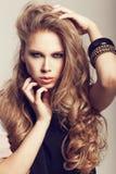 Długi Falisty włosy Obraz Royalty Free