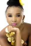 Zbliżenie Piękny afrykanina model Zdjęcie Stock