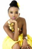 Zbliżenie Piękny afrykanina model Obraz Royalty Free