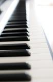 Zbliżenie pianino fotografia stock
