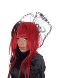 Zbliżenie portret kobieta z czerwonym włosy Obrazy Royalty Free