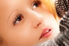 Zbliżenie portret młoda kobieta Fotografia Royalty Free