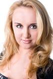 Zbliżenie portret młoda piękna kobieta Fotografia Royalty Free