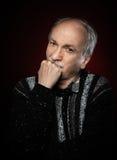 Zbliżenie portret stary człowiek Fotografia Royalty Free