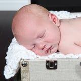 Zbliżenie portret sypialny dziecko obrazy stock