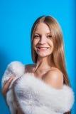 Zbliżenie portret szczęśliwy żeński ono uśmiecha się Fotografia Stock