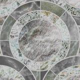 Zbliżenie powierzchni płytki okręgu wzór mieszanką koloru marmuru kamień Obrazy Stock