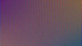 Zbliżenie PROWADZIŁ światło żarówki diodę od DOWODZONEGO TV lub PROWADZIŁ monitoru ekran obraz royalty free
