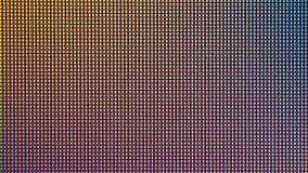 Zbliżenie PROWADZIŁ światło żarówki diodę od DOWODZONEGO TV lub PROWADZIŁ monitoru ekran obrazy royalty free