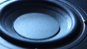 Zbliżenie przy poruszającym woofer Głośnikowa część zbiory wideo
