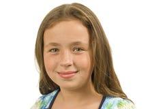 zbliżenie przygląda się małego dziewczyna portret dosyć Obrazy Royalty Free