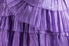 Zbliżenie purpurowa tiul suknia zdjęcia stock