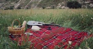 Zbliżenie pykniczna koc po środku góry zdjęcie wideo