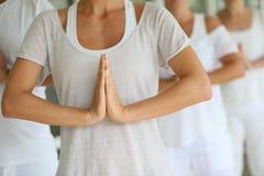 Zbliżenie ręki na medytaci ćwiczeniu Zdjęcie Royalty Free