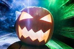 Zbliżenie rozjarzone banie dla Halloween obraz stock