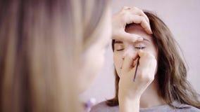 Zbliżenie rysunek linia na oko deklu zdjęcie wideo