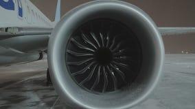 Zbliżenie samolotowy silnik zdjęcie wideo
