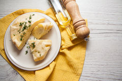 Zbliżenie serowy kulebiak zdjęcia royalty free