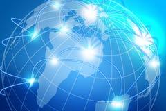 Zbliżenie sieć nad planety ziemi tłem Zdjęcia Stock