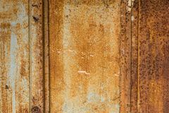 Zbliżenie stalowego talerza ośniedziała stara ściana dla tła Obraz Stock