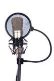 Zbliżenie stary mikrofon Zdjęcia Royalty Free