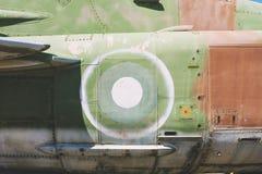 Zbliżenie Stary Myśliwski Militarny Dżetowy samolot Zdjęcie Stock