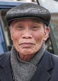 Zbliżenie stary Wietnamski mężczyzna Zdjęcia Stock