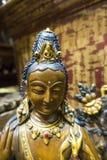 Zbliżenie statua Maitreya Buddha zdjęcia royalty free