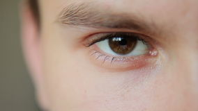 Zbliżenie strzał chłopiec oko zbiory