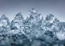 Zbliżenie strzał piękny mroźny lód obrazy royalty free