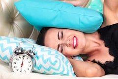 Zbliżenie strzelający śpiąca kobieta obraz royalty free