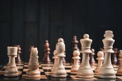 Zbliżenie szachowi kawałki Obraz Royalty Free