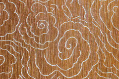 Zbliżenie szczegół Brown tkaniny tekstury podłogowy tło zdjęcie stock