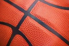 Zbliżenie szczegół koszykówki tekstury balowy tło Zdjęcie Stock