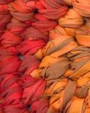 Zbliżenie szydełkowy gałganiany dywanik zdjęcie royalty free