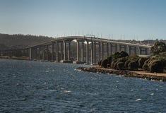 Zbliżenie Tasman autostrady most nad Derwent rzeką, Hobart Aust Zdjęcie Stock