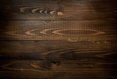 Zbliżenie tekstura ciemne drewniane deski Horyzontalny tło dowcip Obrazy Royalty Free